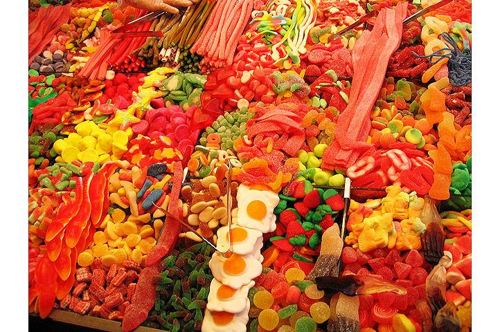 Etal de bonbons - Barcelone.3